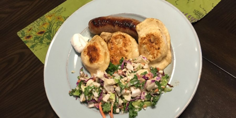Jennie's Homemade Pierogies Plate with Sharon at sharonswalkabout.com